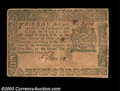 Colonial Notes:New York, New York September 2, 1775 $1/2 Very Fine. A well margined,...