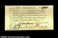 Colonial Notes:North Carolina, North Carolina December 1771 5s Superb Gem New. A number ...