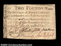 Colonial Notes:North Carolina, North Carolina December 1771 L2 Extremely Fine. Boldly ...