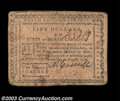 Colonial Notes:North Carolina, North Carolina August 8, 1778 $5 Very Fine. An evenly ...