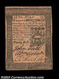 Colonial Notes:Pennsylvania, Pennsylvania October 1, 1773 20s Extremely Fine. A very ...