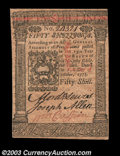 Colonial Notes:Pennsylvania, Pennsylvania October 1, 1773 50s Gem New. A beautiful note ...