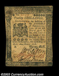 Colonial Notes:Pennsylvania, Pennsylvania April 25, 1776 20s Extremely Fine. Well ...