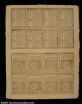 Colonial Notes:Rhode Island, Rhode Island July 2, 1780 Double Sheet of 16. The sheet is ...