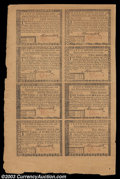 Colonial Notes:Rhode Island, Rhode Island July 2, 1780 Half Sheet of Eight Gem New. ...