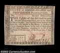 Colonial Notes:Rhode Island, Rhode Island July 2, 1780 $7 Choice New. Fully signed on ...