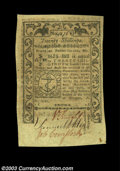 Colonial Notes:Rhode Island, Rhode Island May 1786 20s Choice New. Quite near the full ...