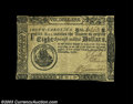 Colonial Notes:South Carolina, South Carolina December 23, 1776 $8 Extremely Fine. Again, ...