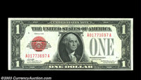 Fr. 1500 $1 1928 Legal Tender. Choice Crisp Uncirculated. The centering is low, but this note is crackling fresh and ful...