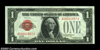 Fr. 1500 $1 1928 Legal Tender. Crisp Uncirculated. A four digit serial number enhances this nice note that is fully orig...