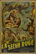 "Movie Posters:Documentary, Jungle Stampede (Republic, 1950). Argentinean Poster (29"" X 43""). Documentary...."