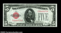Fr. 1525 $5 1928 Legal Tender. Gem Crisp Uncirculated. Perfectly centered and boldly embossed