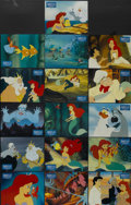 "Movie Posters:Animated, The Little Mermaid (Buena Vista, 1989). German Lobby Card Set of 16(9.25"" X 12""). Animated.... (Total: 16 Items)"