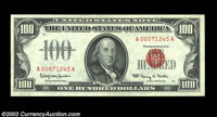 Fr. 1550 $100 1966 Legal Tender Note. Gem Crisp Uncirculated. One of a run of four consecutive examples, all bright and...
