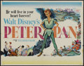 "Movie Posters:Animated, Peter Pan (Buena Vista, R-1958). Half Sheet (22"" X 28"").Animated...."