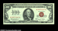 Fr. 1550 $100 1966 Legal Tender. Gem Crisp Uncirculated. Another of the consecutive run of four, and, like the others, a...