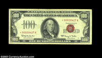 Fr. 1550* $100 1966 Legal Tender. Very Fine. Jumbo margins and perfect centering are present on both sides of this scarc...
