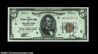 Fr. 1850-C $5 1929 Federal Reserve Bank Note. CGA Gem Uncirculated 67. Perfectly centered on both sides and unmistakably...
