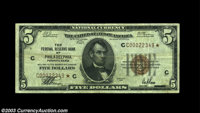 Fr. 1850-C* $5 1929 Federal Reserve Bank Note. Very Fine. A broadly margined, strictly original circulated example of th...