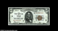 Fr. 1850-G $5 1929 Federal Reserve Bank Note. Choice Crisp Uncirculated