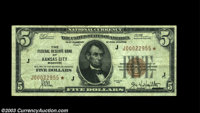Fr. 1850-J* $5 1929 Federal Reserve Bank Note. Very Fine+. A bright, fresh, original example of this scarce star note. T...