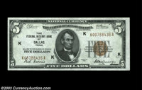 Fr. 1850-K $5 1929 Federal Reserve Bank Note. Gem Crisp Uncirculated An absolutely original example from the sought afte...
