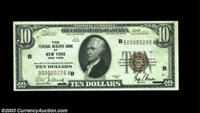 Fr. 1860-B $10 1929 Federal Reserve Bank Note. Choice Crisp Uncirculated. A small counting mark away from the Gem grade...
