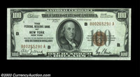 Fr. 1890-B $100 1929 Federal Reserve Bank Note. Choice Crisp Uncirculated. Gem but for a slightly tight top right margin...