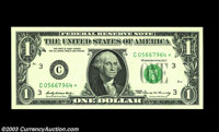 Fr. 1903-C* $1 1969 Federal Reserve Note. Gem Crisp Uncirculated. A beautiful example of this scarce special printing. T...