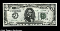 Fr. 1950-C $5 1928 Federal Reserve Note. Gem Crisp Uncirculated. A lovely, well centered, and broadly margined Gem with...