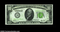 Fr. 2003-D $10 1928C Federal Reserve Note. Gem Crisp Uncirculated. This Cleveland district 1928C example is a rare note...