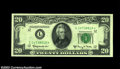 Fr. 2064-L* $20 1950E Federal Reserve Note. CGA Gem Uncirculated 66. Broadly margined and bright with perfect centering...