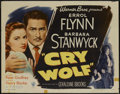 """Movie Posters:Mystery, Cry Wolf (Warner Brothers, 1947). Half Sheet (22"""" X 28"""") Style B.Mystery...."""