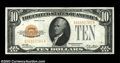 Fr. 2400 $10 1928 Gold Certificate. Choice About Uncirculated. Great color and appeal along with just the hint of a ligh...