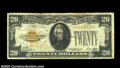 Fr. 2402* $20 1928 Gold Certificate. Fine-Very Fine.A more than acceptable example of this very tough star, with good co...