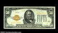 Small Size:Gold Certificates, Fr. 2404 $50 1928 Gold Certificate. Very Fine-Extremely Fine....