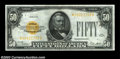 Small Size:Gold Certificates, Fr. 2404* $50 1928 Gold Certificate. About Uncirculated.
