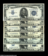 $5 Silver Stars. Fr. 1651* $5 1934A Silver Certificate About Uncirculated Fr. 1652* $5 1934B Silver Certificate About Un...