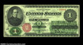 Large Size:Legal Tender Notes, Fr. 16 $1 1862 Legal Tender About New. Super quality, with ...