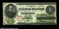 Large Size:Legal Tender Notes, Fr. 17a $1 1862 Legal Tender Extremely Fine. The bottom ...