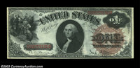 Fr. 29 $1 1880 Legal Tender Very Choice New. A nice original note that grades Gem but for the centering, which is a bit...
