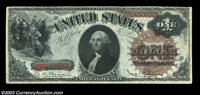 Fr. 29 $1 1880 Legal Tender Choice New. The centering is slightly askew, otherwise this is a brightly colored example wi...