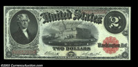 Three 1917 Deuces. A Fr. 57, 58, and 60, each with good color and nice eye appeal. The Fr. 60 grades Extremely Fine, whi...