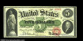 Large Size:Legal Tender Notes, Fr. 61a $5 1862 Legal Tender Gem New. This early Five has ...
