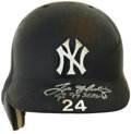 Baseball Collectibles:Hats, 1998-99 Tino Martinez Game Used and Signed Helmet. Tino Martinezhad the duty of replacing the New York Yankees great first...