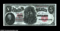 Fr. 85 $5 1907 Legal Tender Choice About New. A nice note, with the appearance of a Gem but a single soft center fold...