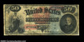 Large Size:Legal Tender Notes, Fr. 151 1869 $50 Legal Tender Fine. The lower right corner ...