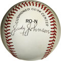 Autographs:Baseballs, Judy Johnson Single Signed Baseball. Known as the Black Pie Traynoras a result of his exceptional defensive prowess, Judy ...