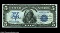 Large Size:Silver Certificates, Fr. 271 $5 1899 Silver Certificate Superb Gem New. The ...