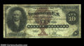 Large Size:Silver Certificates, Fr. 289 $10 1880 Silver Certificate Very Good-Fine. But ...